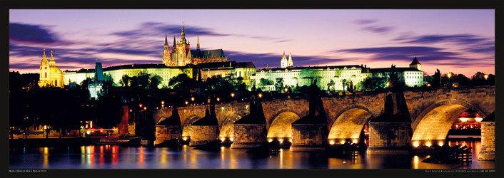 Plagát Prague – Prague castle & Charles bridge