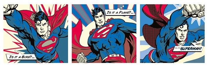 Plagát Superman - Pop Art Triptych