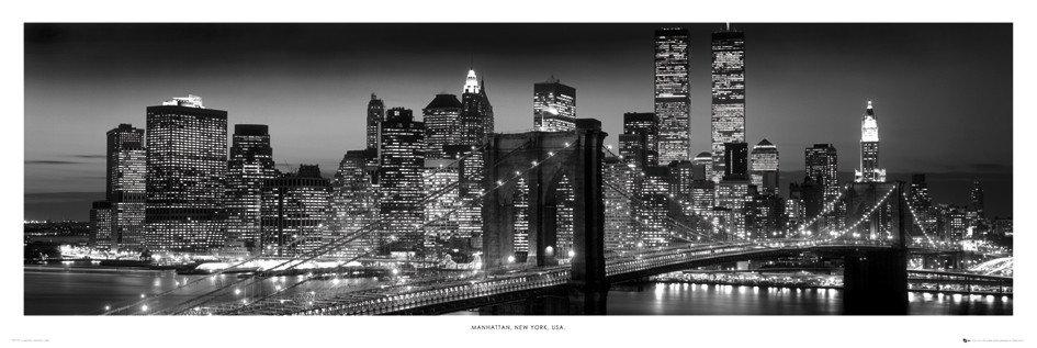 New York - Manhattan black Poster