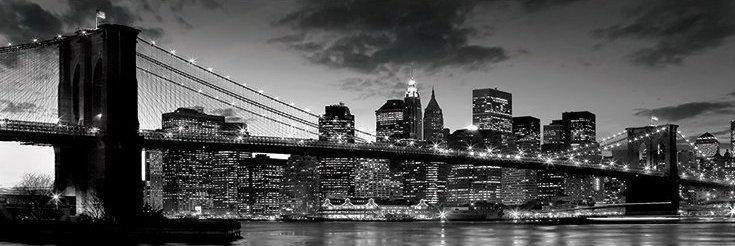 Brooklyn bridge - dusk Plakát