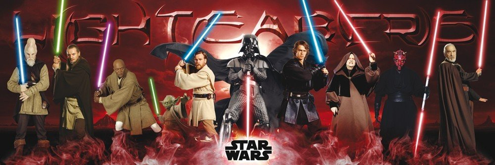 STAR WARS - lightsabers Plakát