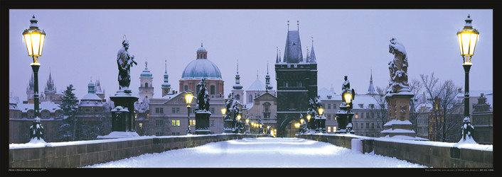 Plakat Prague – Charles bridge / snow
