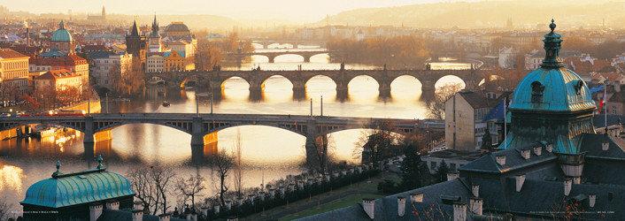 Plakat Prague - Pražské mosty