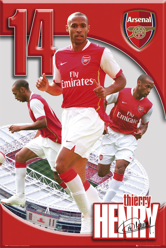 🤩 Arsenal Thierry Henry 06/07 Póster, Lámina | Compra en EuroPosters.es