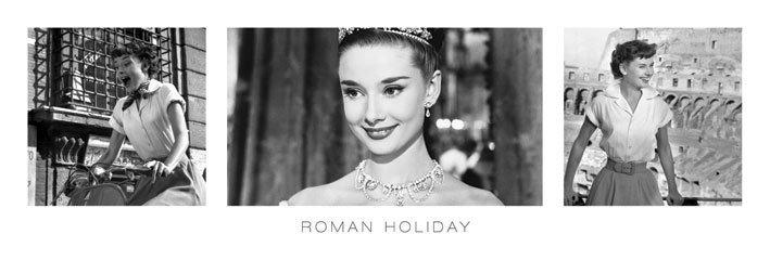 Audrey hepburn roman holiday triptych p ster l mina - Laminas audrey hepburn ...