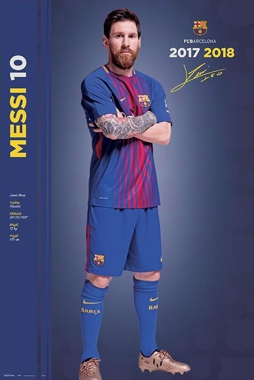 Poster Fc Barcelona 2017/2018 Messi - Pose