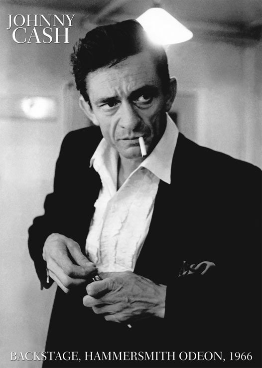 Poster Johnny Cash Face Black And White Next
