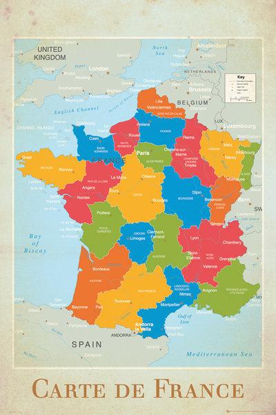 Cartina Spagna Politica Da Stampare.Cartina Francia Politica Da Stampare