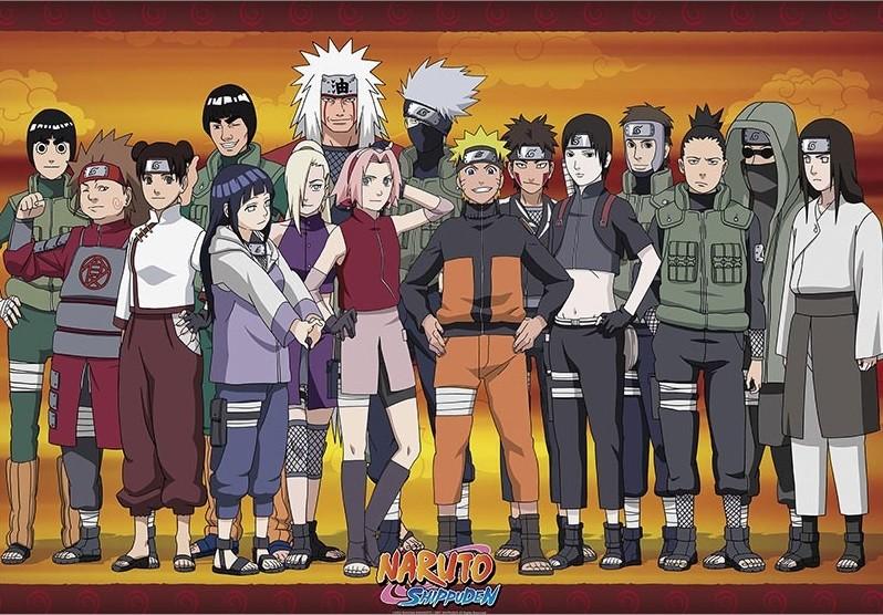 朗 Naruto Shippuden - Konoha Ninjas Póster, Lámina | Compra en EuroPosters.es