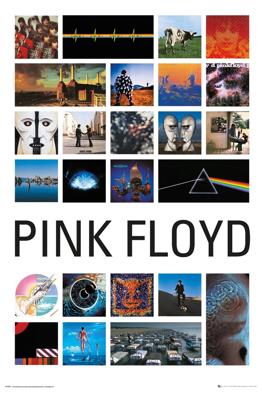 poster pink floyd collage