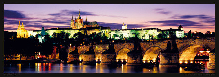 Póster Prague – Prague castle & Charles bridge