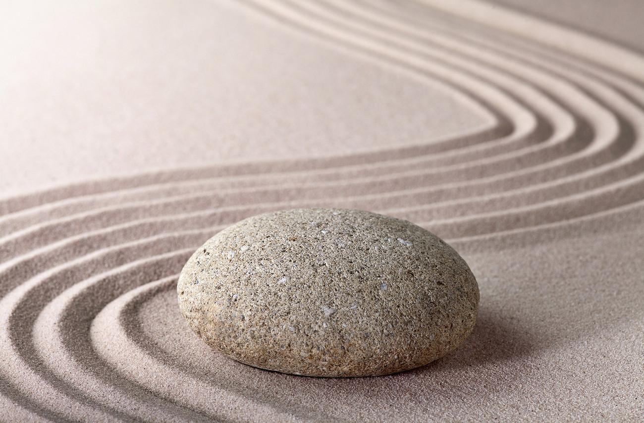 Bestel de zen stone poster op - Badkamer zen natuur ...