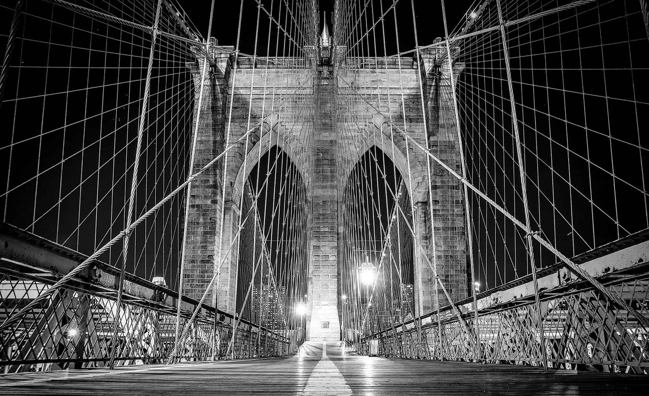 Brooklyn bridge new york poster mural papier peint - Poster mural xxl new york ...