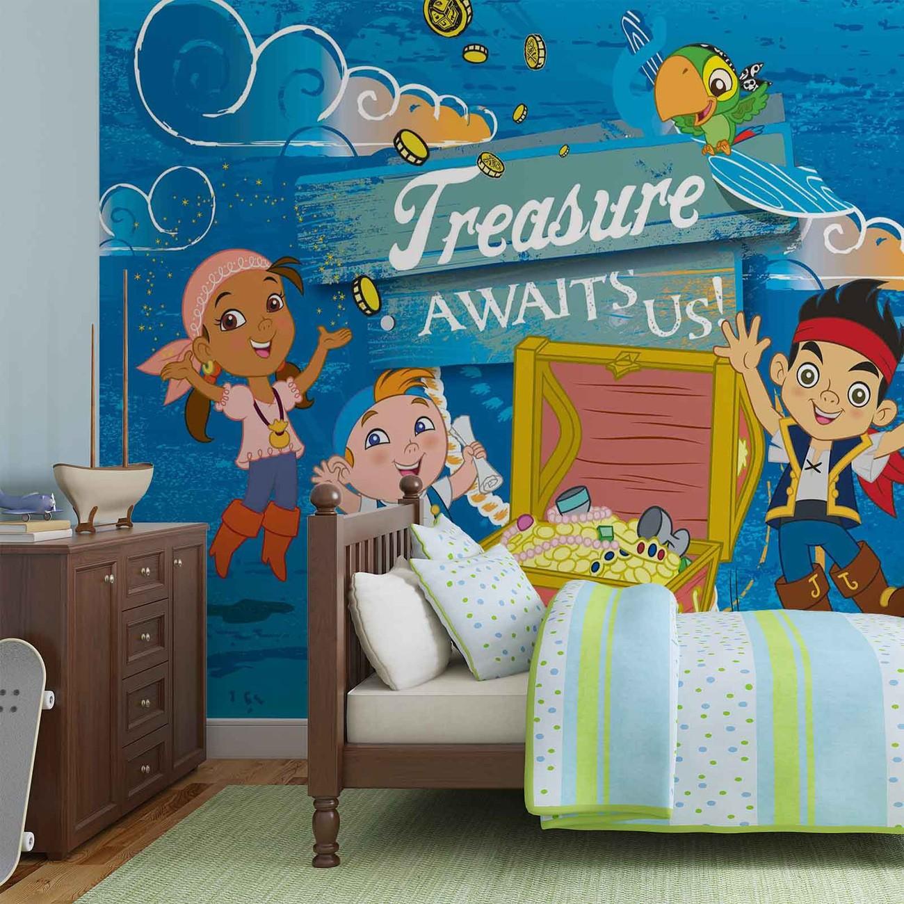 disney jake pays imaginaire pirates poster mural papier peint acheter le sur. Black Bedroom Furniture Sets. Home Design Ideas