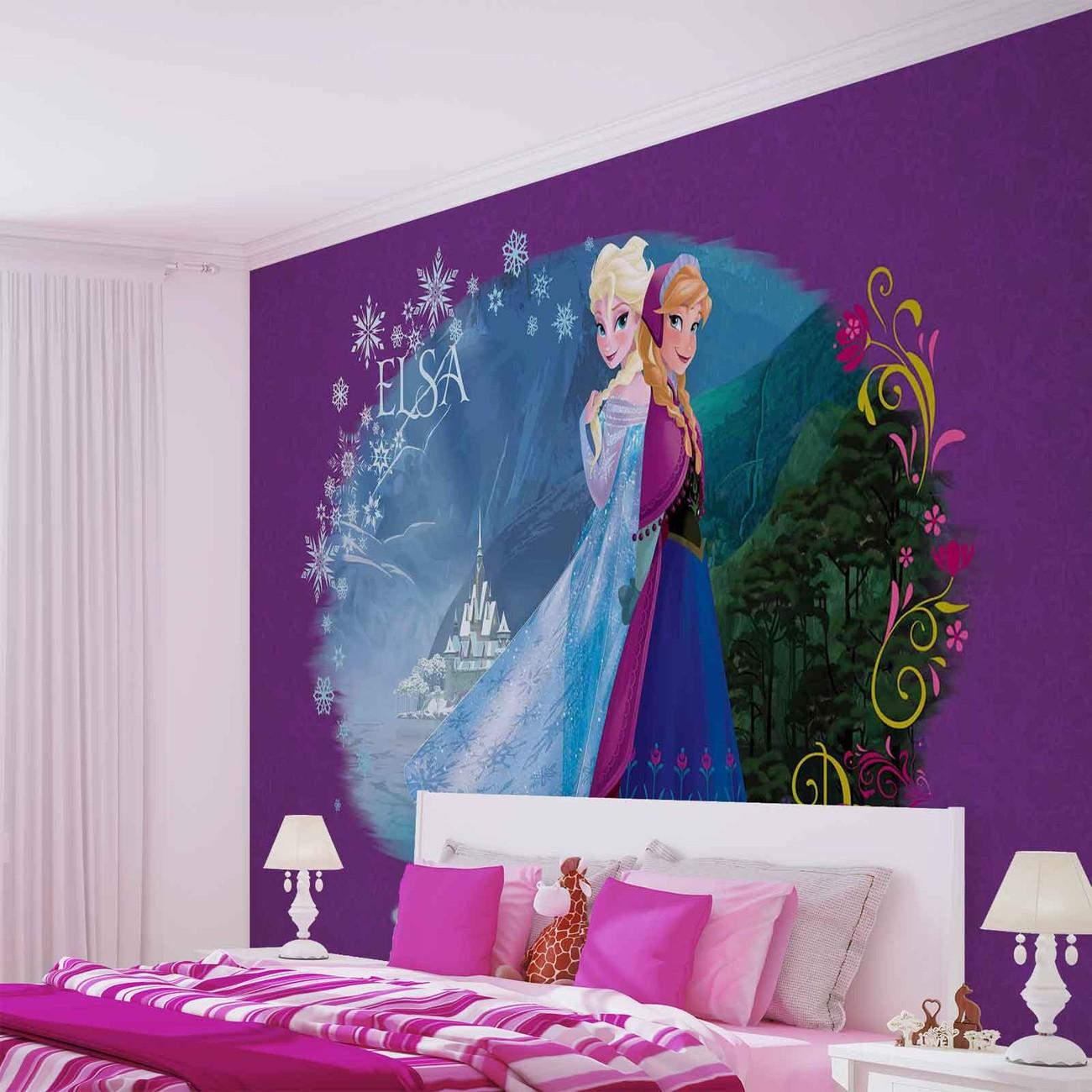 Disney la reine des neiges poster mural papier peint acheter le sur - Papier peint reine des neiges ...