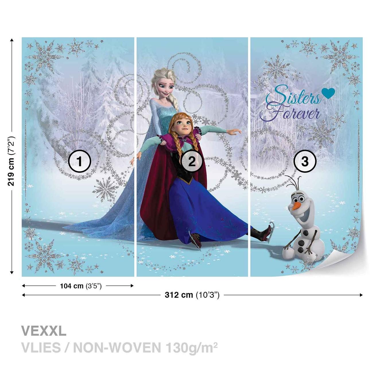Disney reine des neiges elsa anna olaf poster mural papier peint acheter le sur - Papier peint reine des neiges ...