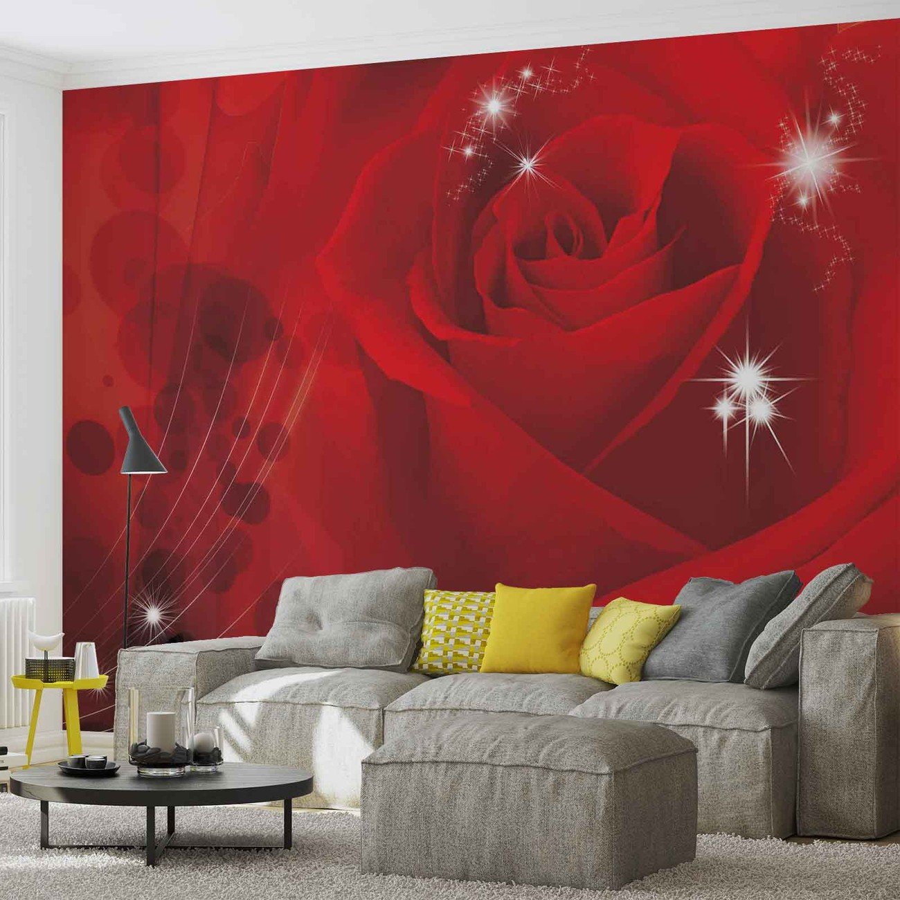fleur rose rouge poster mural papier peint acheter le sur. Black Bedroom Furniture Sets. Home Design Ideas