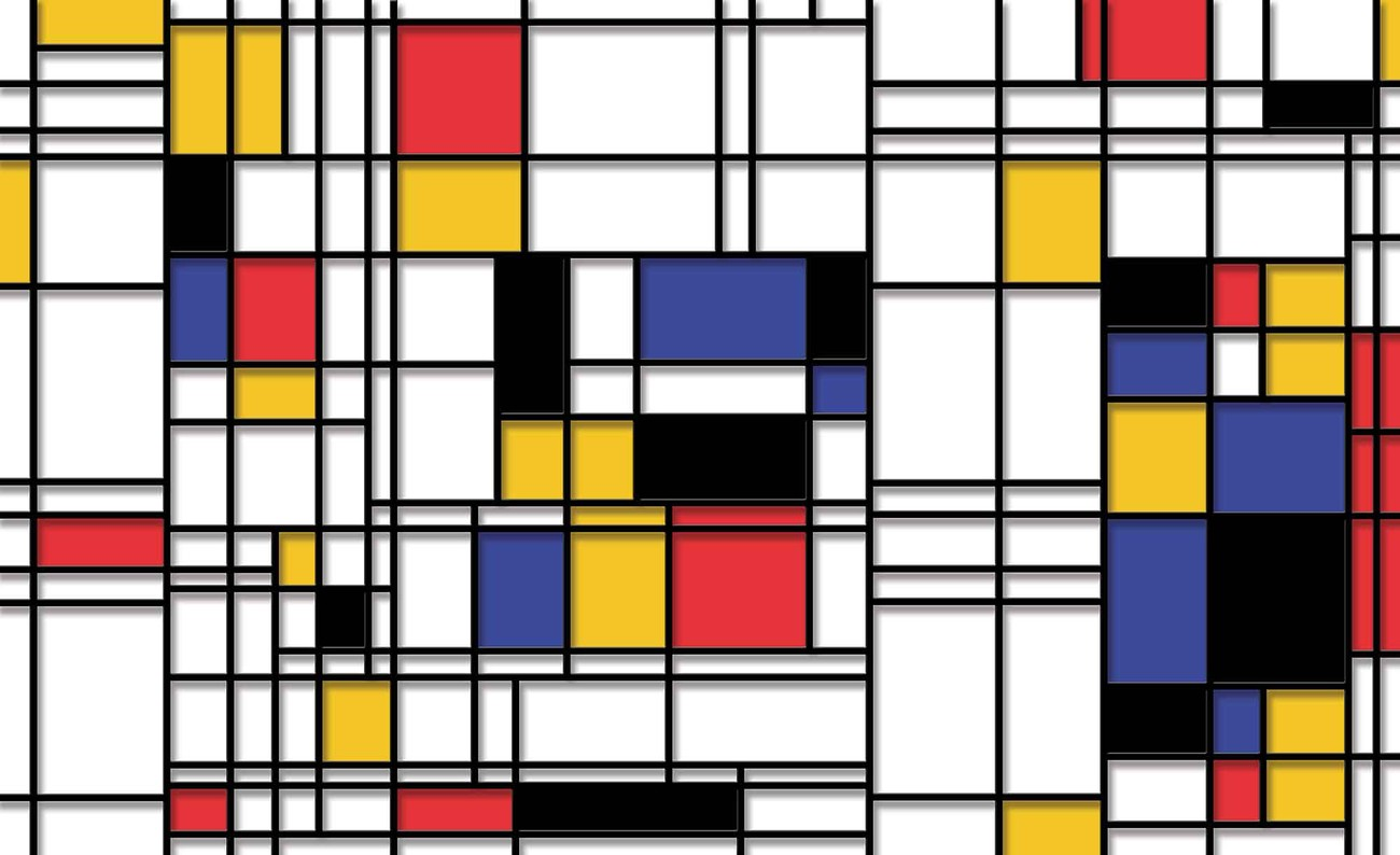 mondrian art moderne poster mural papier peint acheter le sur. Black Bedroom Furniture Sets. Home Design Ideas