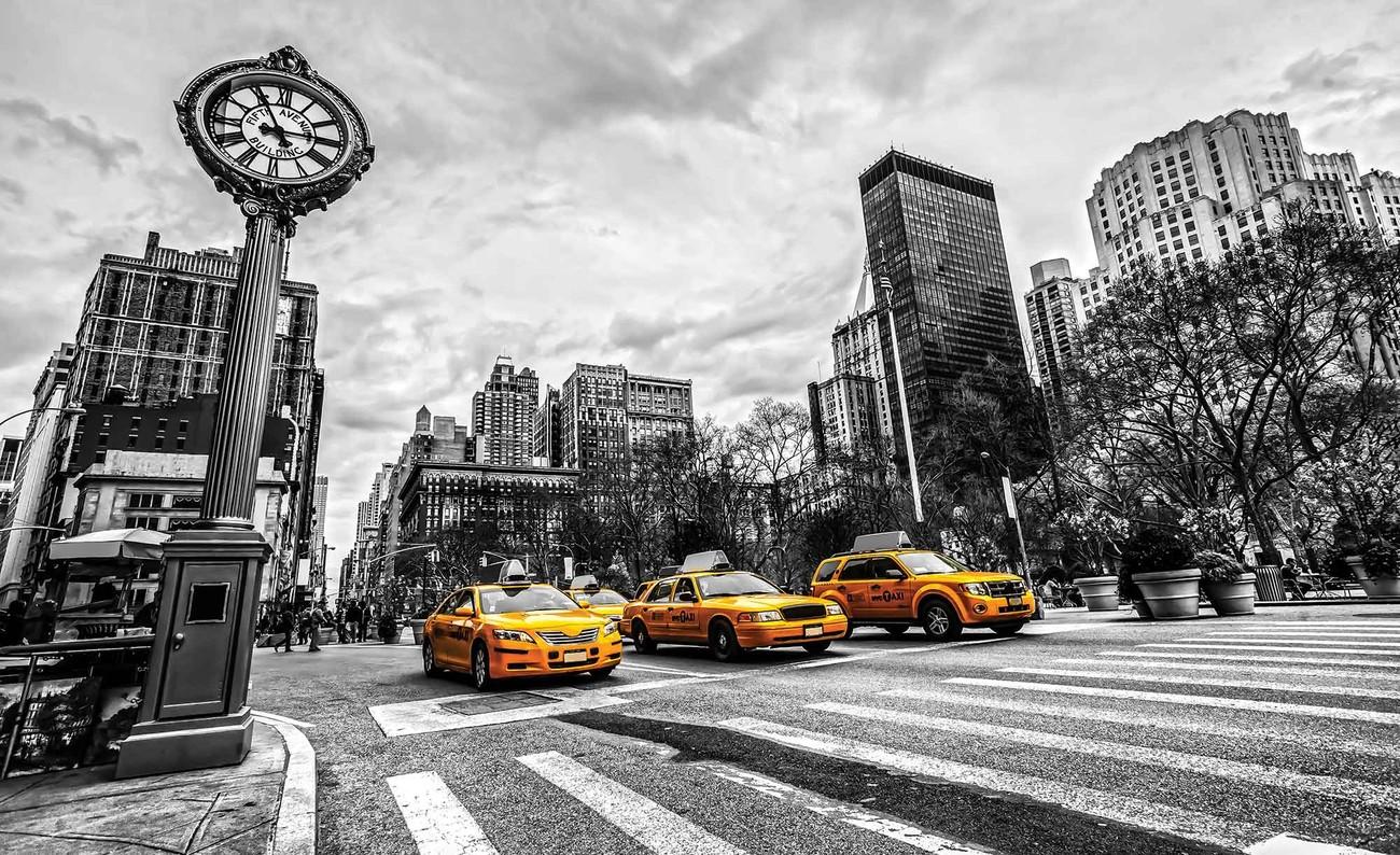 new york city taxi poster mural papier peint acheter le. Black Bedroom Furniture Sets. Home Design Ideas