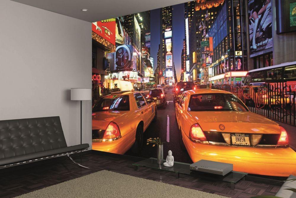 New York Times Square Taxi Poster Mural Papier Peint Acheter Le