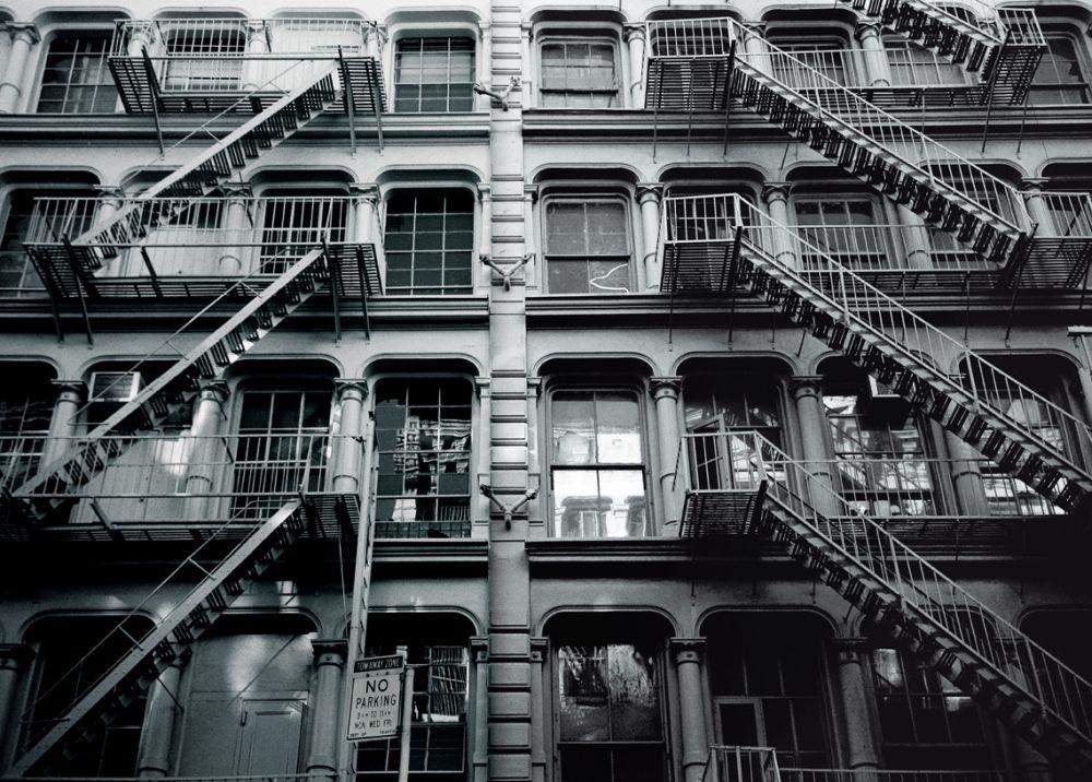 new york tribeca escaliers poster mural papier peint acheter le sur. Black Bedroom Furniture Sets. Home Design Ideas