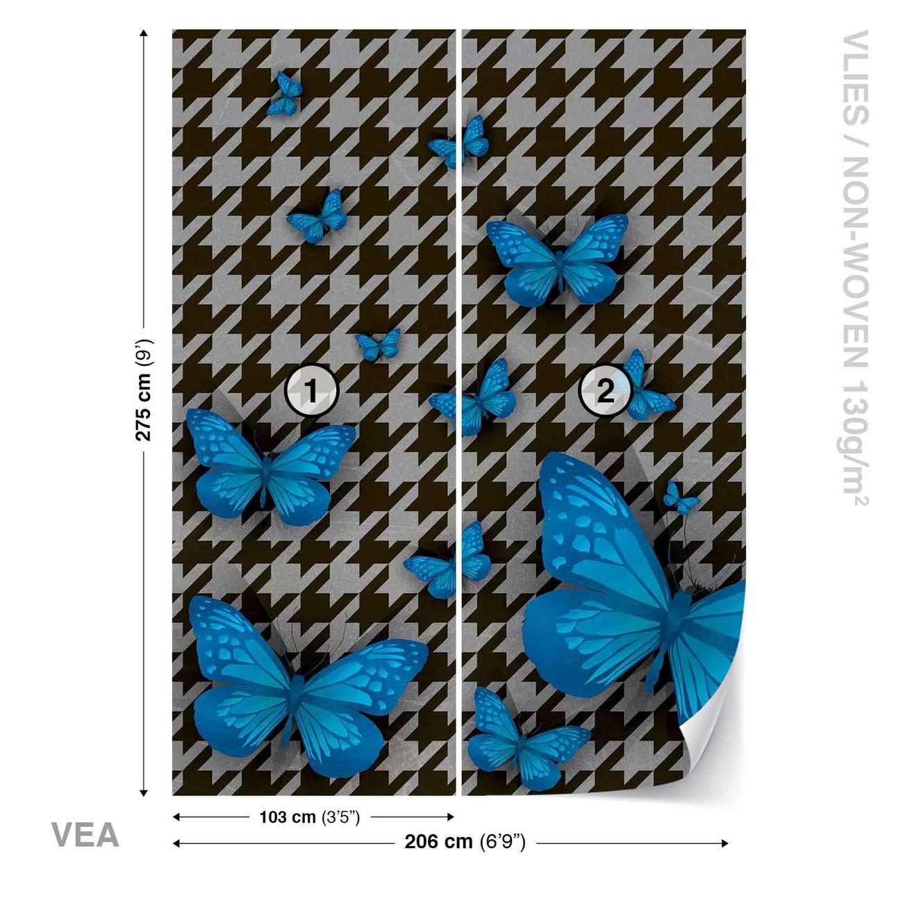 papillons poster mural papier peint acheter le sur. Black Bedroom Furniture Sets. Home Design Ideas