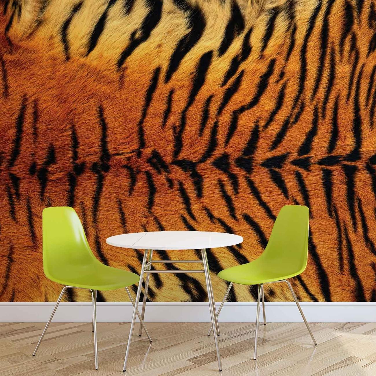 peau de tigre poster mural papier peint acheter le sur. Black Bedroom Furniture Sets. Home Design Ideas