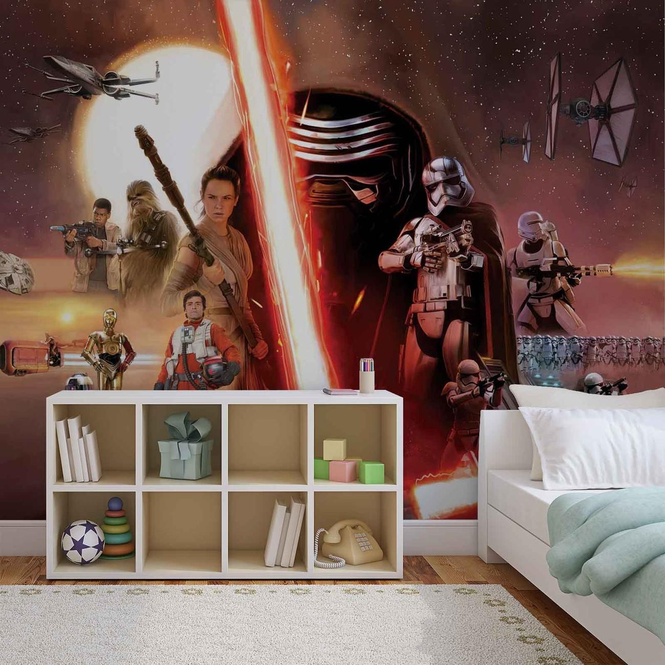 Star wars le r veil de la force poster mural papier peint for Star wars kinderzimmer