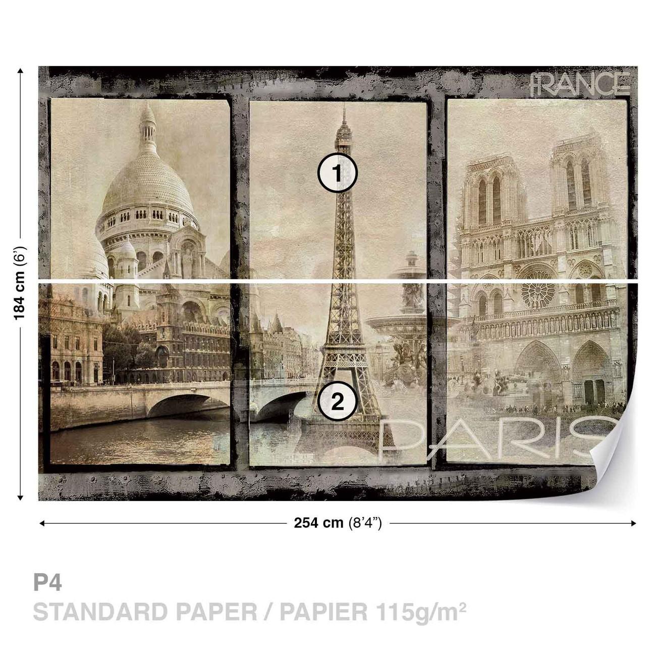 ville de paris poster mural papier peint acheter le sur. Black Bedroom Furniture Sets. Home Design Ideas
