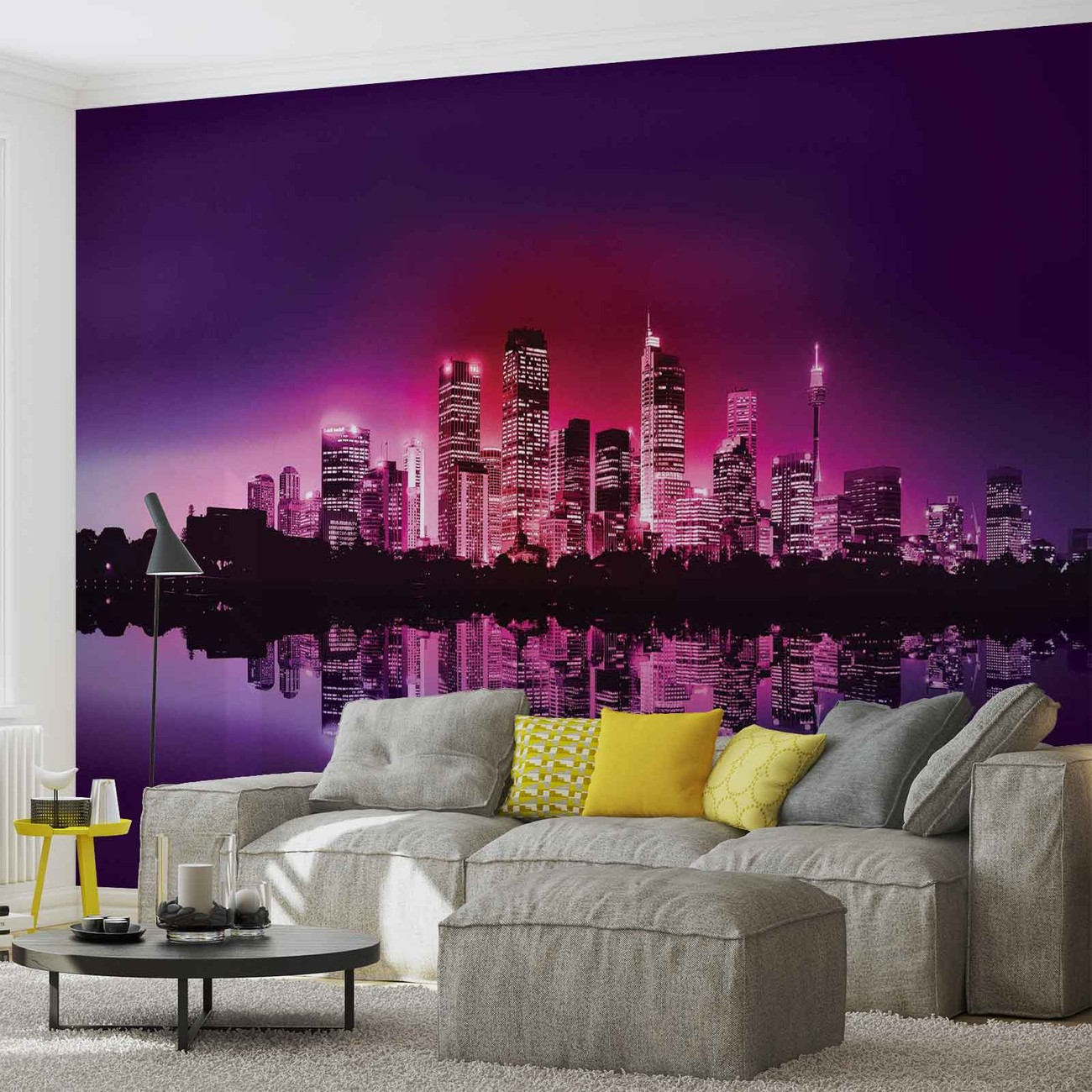 Ville new york horizon poster mural papier peint - Poster mural xxl new york ...