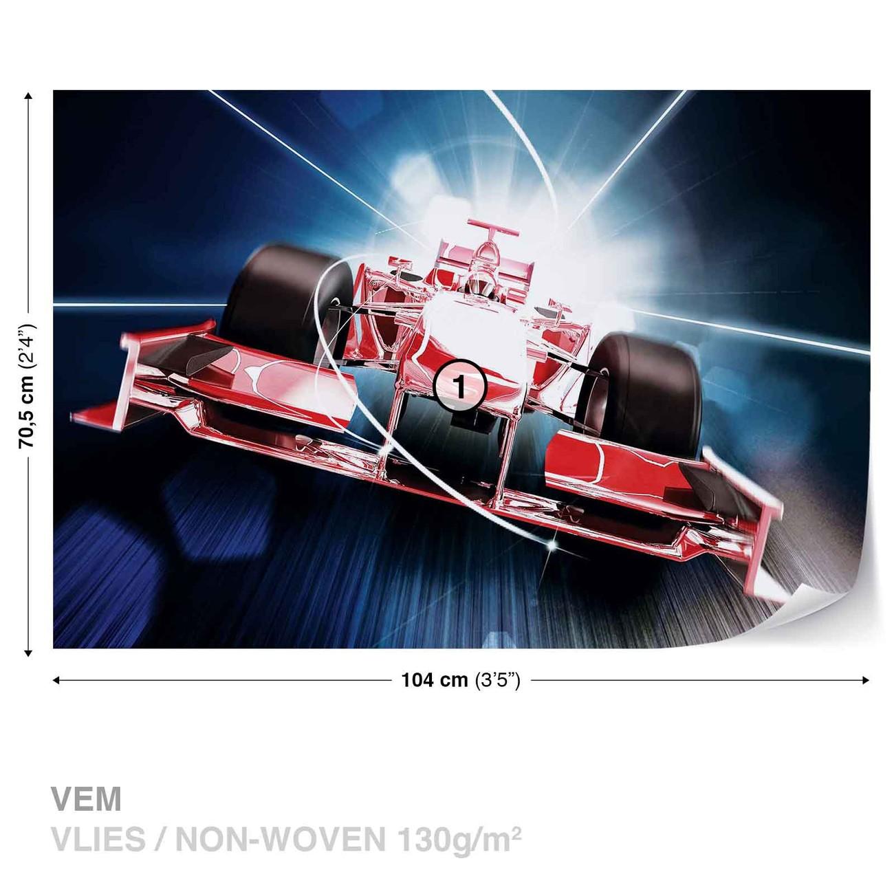 voiture formule 1 rouge poster mural papier peint acheter le sur. Black Bedroom Furniture Sets. Home Design Ideas