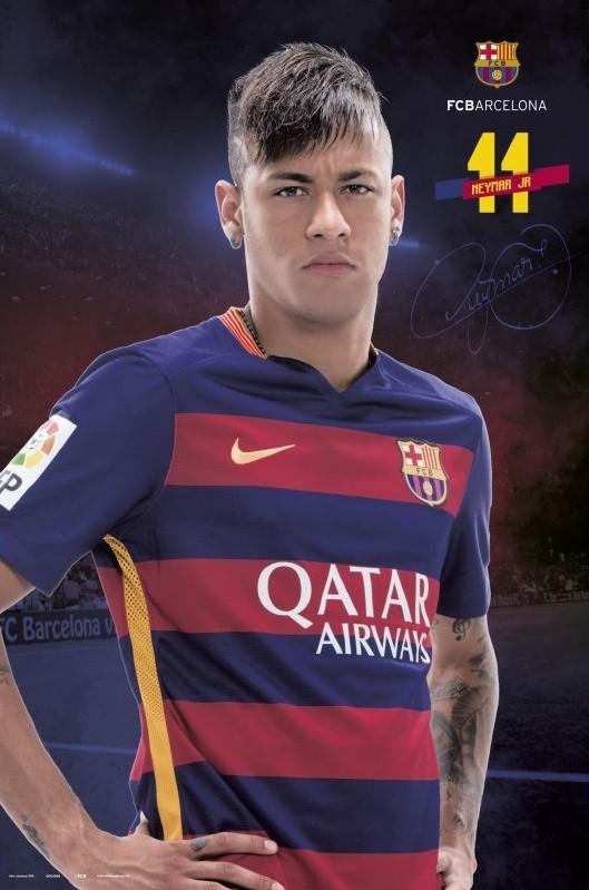Fc Barcelona Neymar Pose 2015 2016 Poster Kunstdruck Bei Monkeyposters De