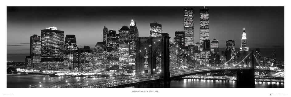 Poster New York - Manhattan black