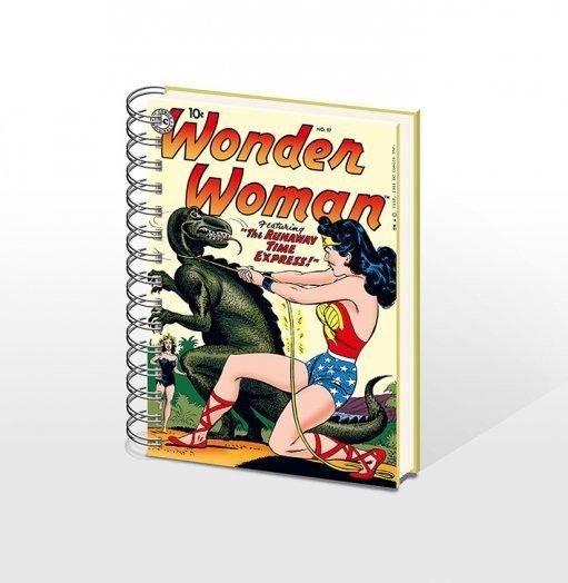 bestellen sie die schreibwaren wonderwoman notebook a5 online bei. Black Bedroom Furniture Sets. Home Design Ideas