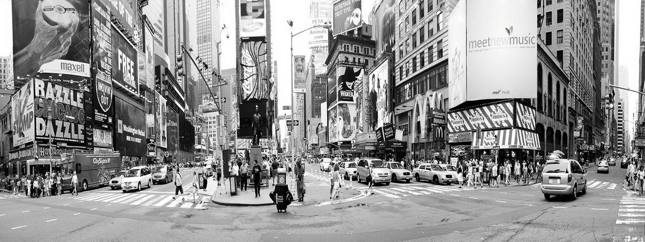 Tablouri pe sticla New York - Times Square Rush