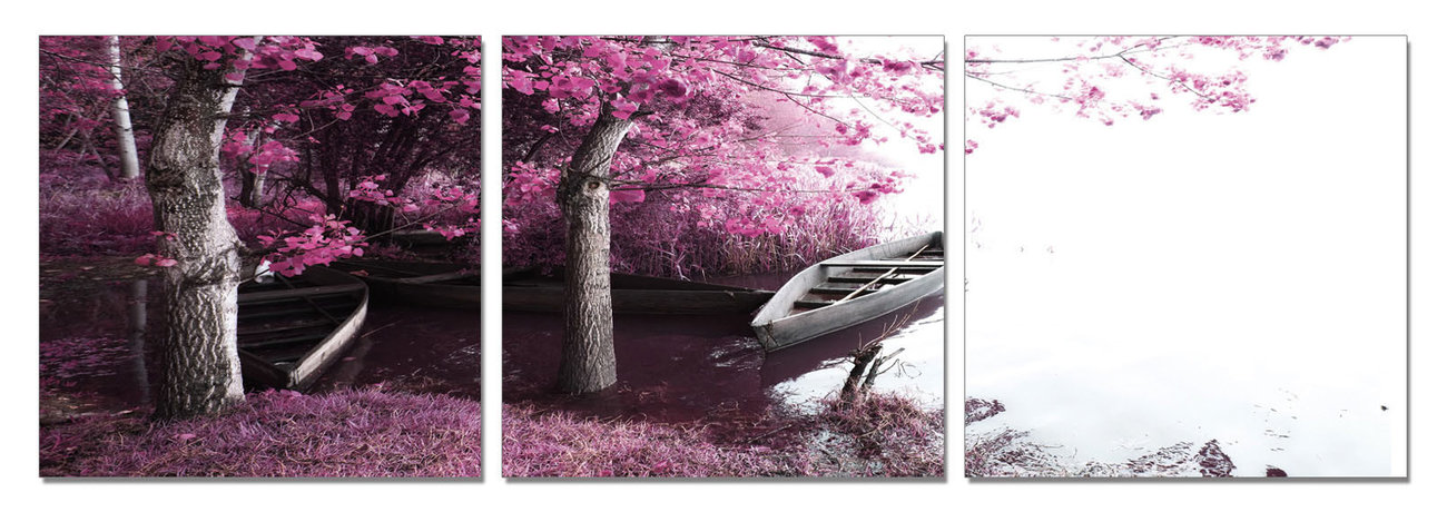 Bay - Trees in Blossoms Tablou