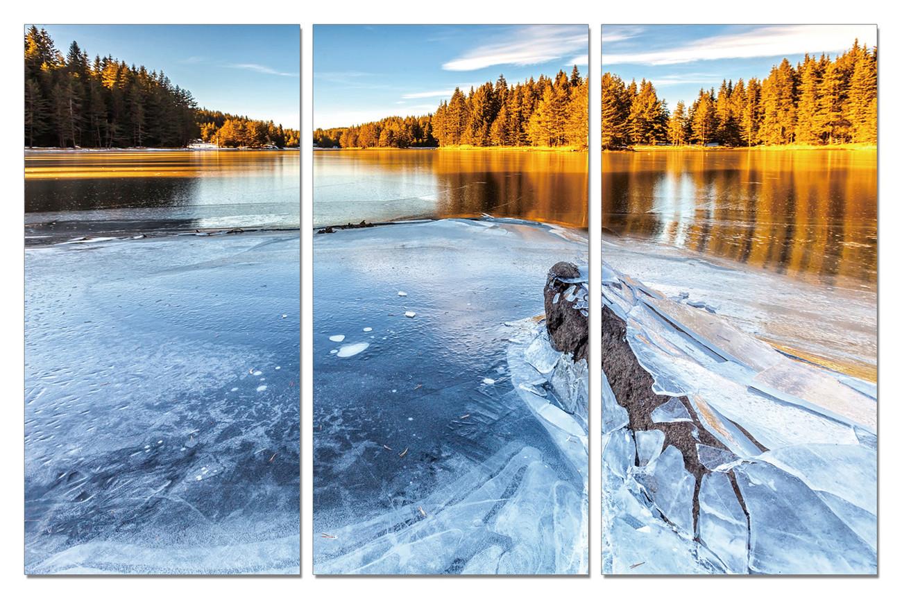 Frozen River in Nature Tablou