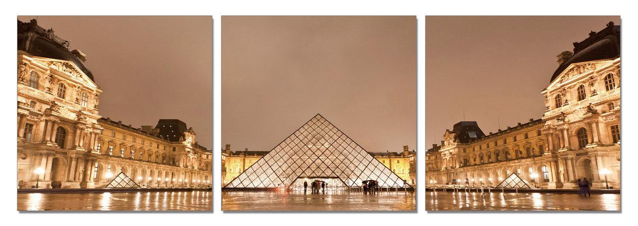 Paris - Le Louvre Tablou