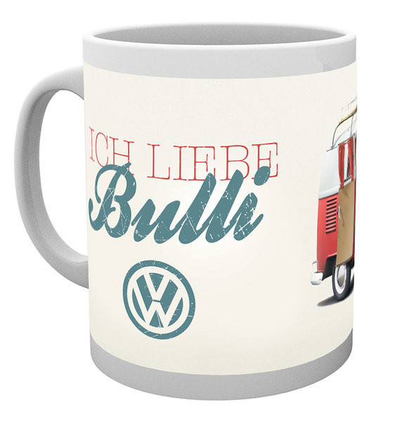 tasse vw volkswagen camper ich liebe bulli bei europosters. Black Bedroom Furniture Sets. Home Design Ideas