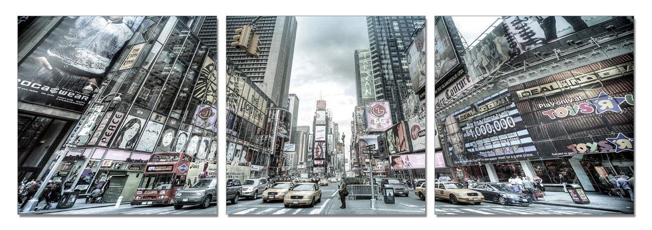 wandbilder bilder new york times square bei europosters. Black Bedroom Furniture Sets. Home Design Ideas
