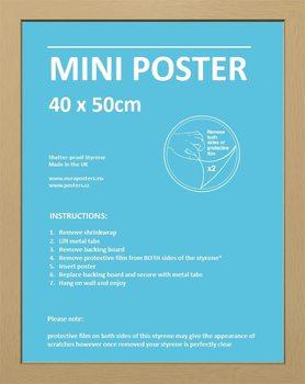 Mini plakáthoz keret 40x50 cm tölgy MDF keret