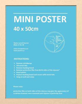 Rahmen - Mini Poster 40x50cm Buche MDF