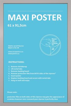 Lijsten - Poster 61x91,5cm zilver MDF