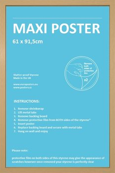 Rahmen - Poster 61x91,5cm Eiche MDF