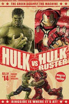 Póster Vengadores 2 La Era De Ultrón Hulk Vs Hulkbuster