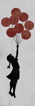 Αφίσα πόρτας Banksy - Girl Floating