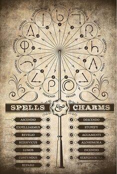Αφίσα Harry Potter - Spells and Charms