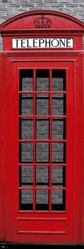 Αφίσα πόρτας London - Red Telephone Box