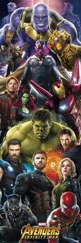 Αφίσα πόρτας Marvel: Avengers - Infinity War