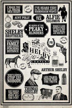 Αφίσα Peaky Blinders - Infographic